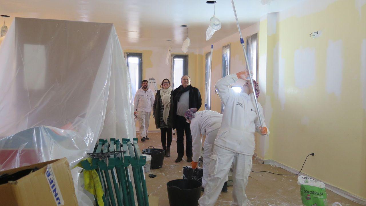 En A Laracha ya hubo un obradoiro de pintura industrial en construcción