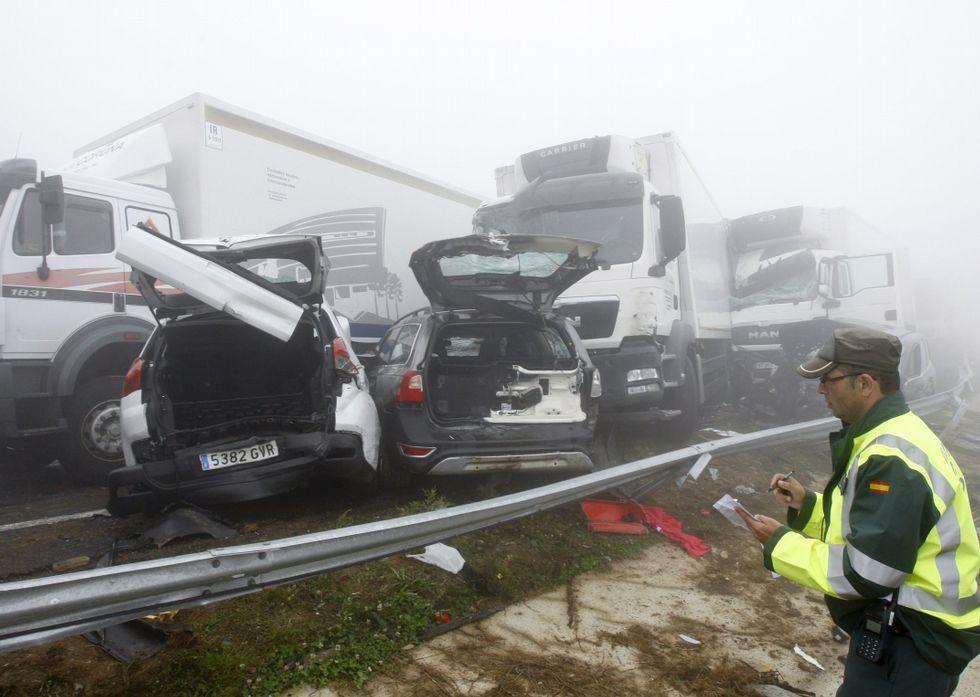 En julio se registró un grave choque en cadena en las cercanías del alto del Fiouco.