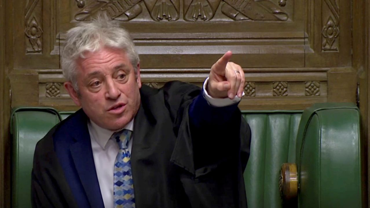John Bercow, durante una sesión en Westminster