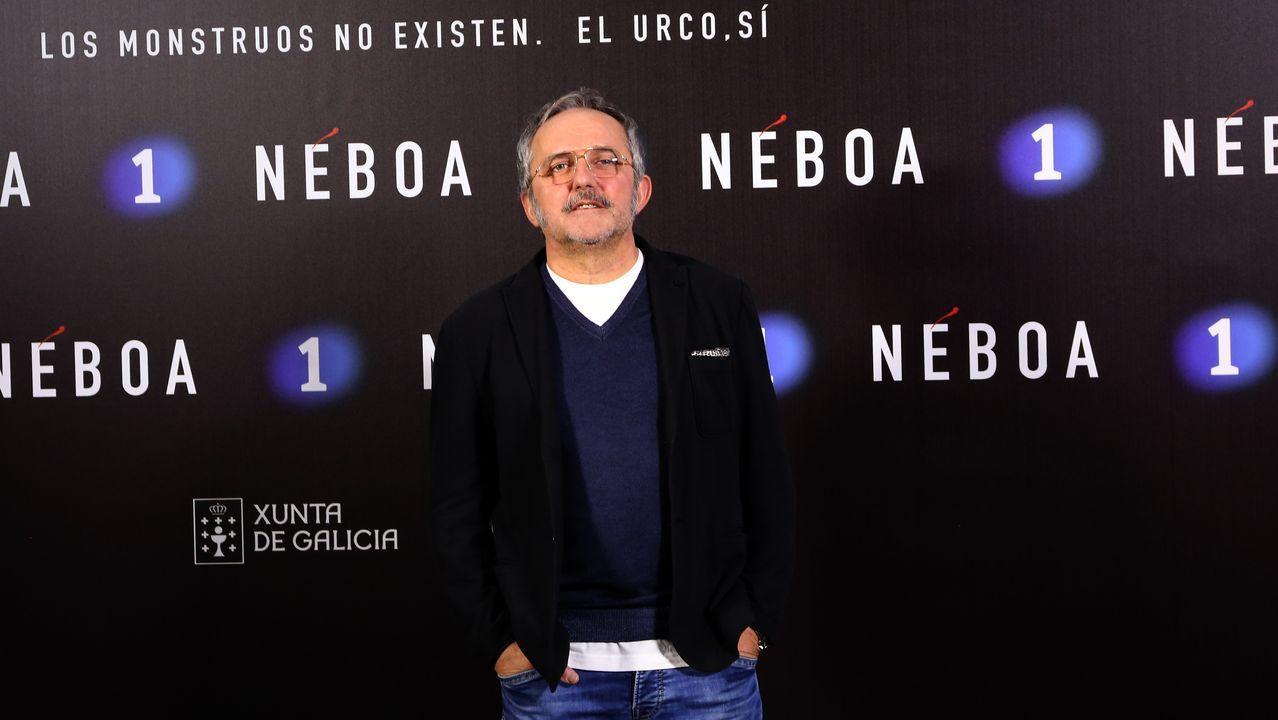 Antonio Durán, Morris, es Antón en la serie, el padre de la adolescente que aparece muerta en Néboa