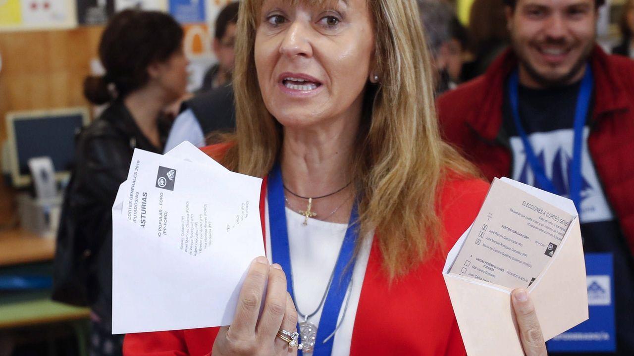 La cabeza de lista de la coalición PP-Foro al Congreso por Asturias, Paloma Gázquez