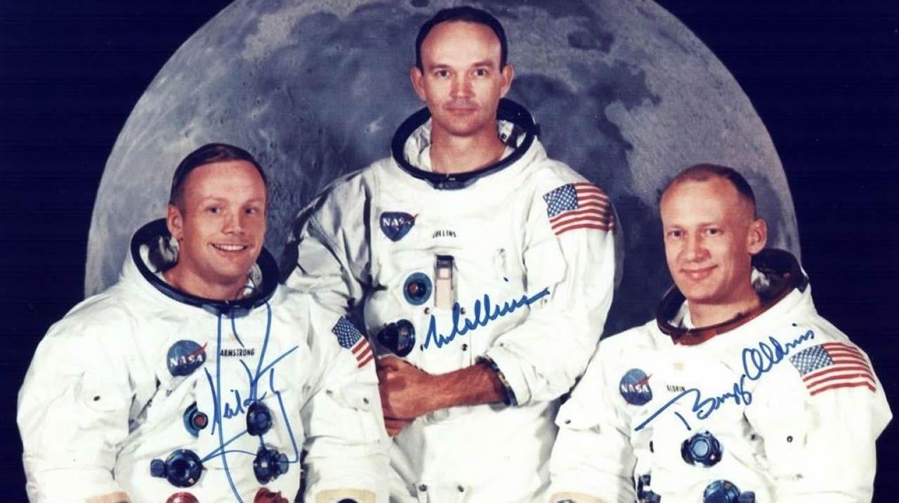 Tripulación del Apolo 11, primera en llegar a la superficie de la Luna