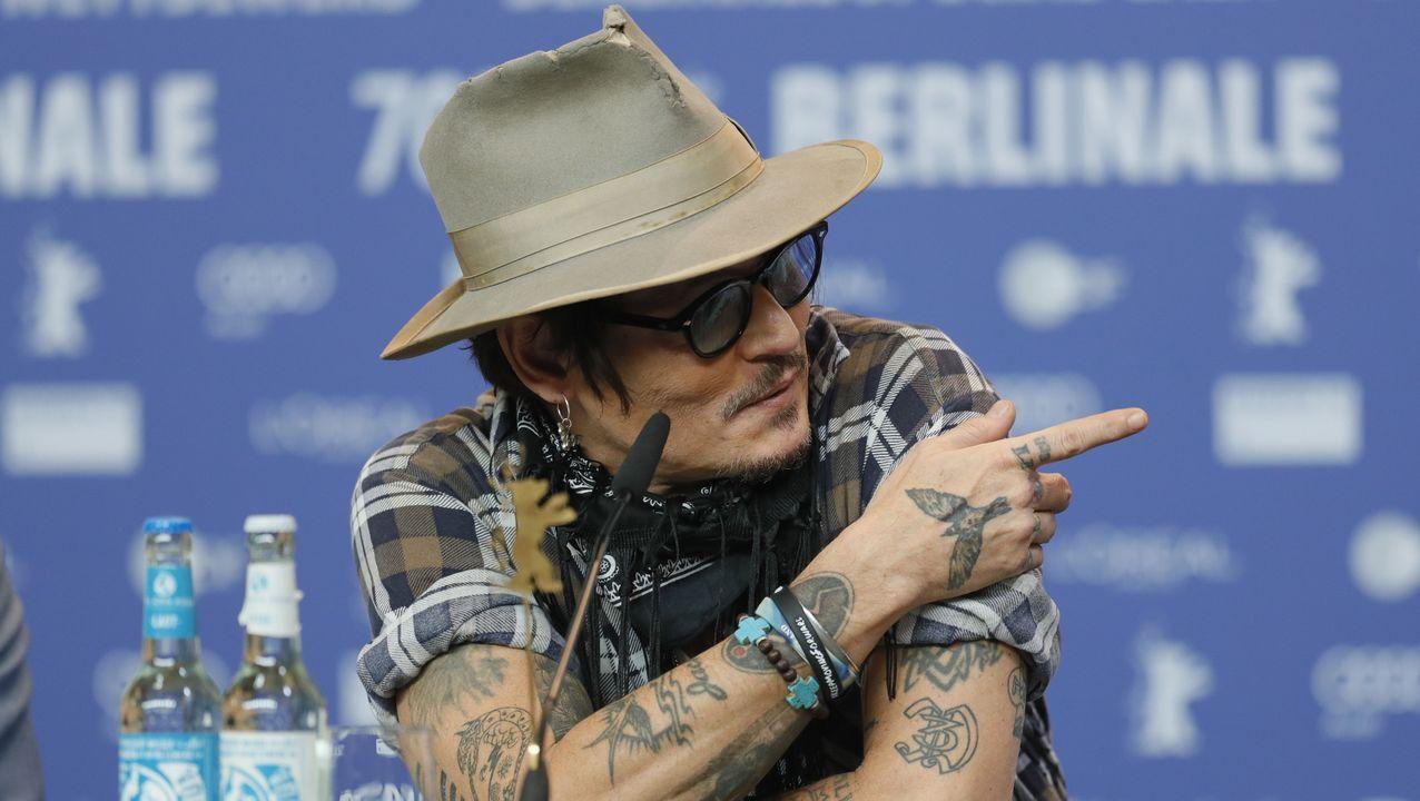 DESFILE DE MARTES DE CARNAVAL EN A VALENZA.Depp, este viernes, en el festival de Berlín