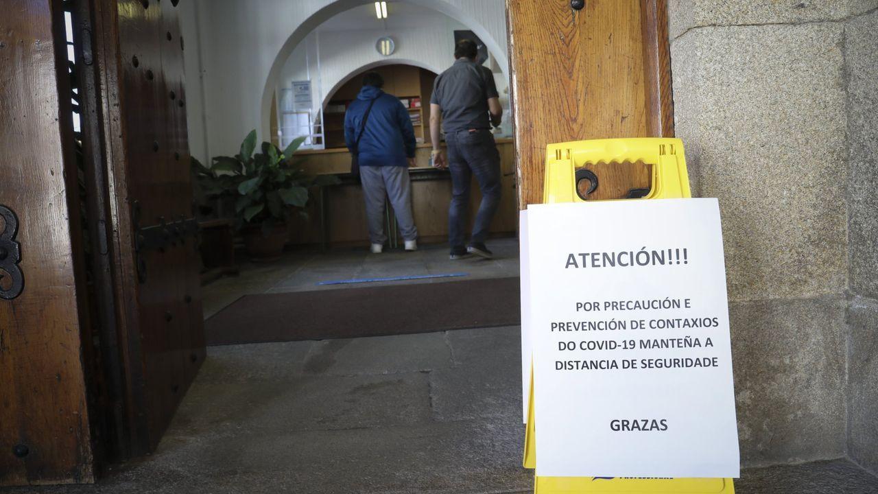 Un aviso de precaución en el San Clemente, en una foto de archivo