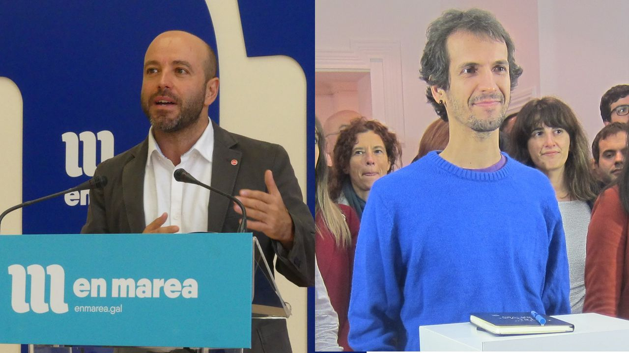 Imagen de la votación en el plenario del 27 de octubre. En la segunda fila, Luís Villares