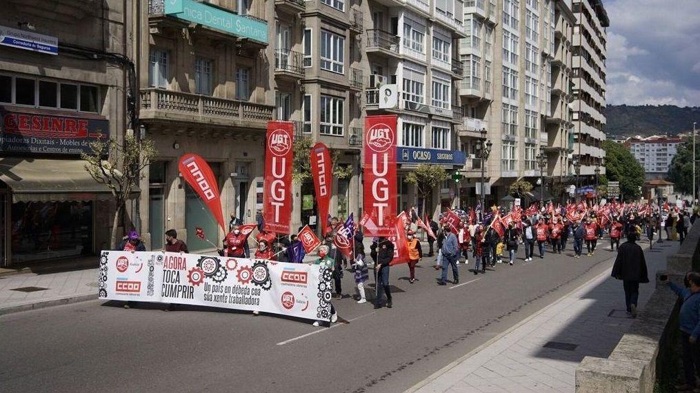 Manifestación del Primero de Mayo en Ourense