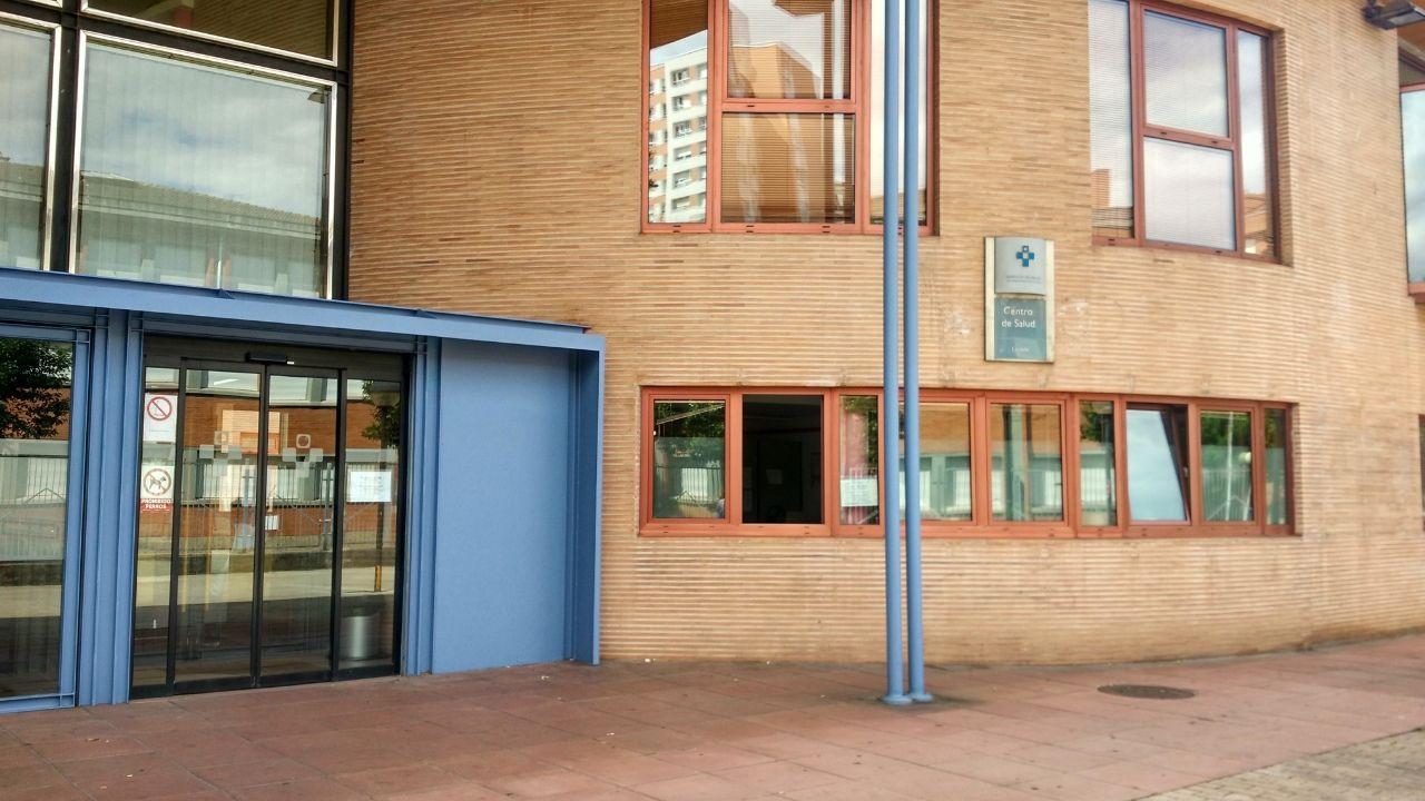 Centro de salud Laviada, en Gijón.Entrada al centro de salud de Laviada