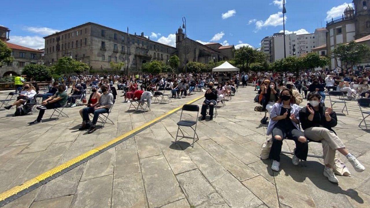 Público asistente al concierto de Ortiga, el primero celebrado este año en Pontevedra