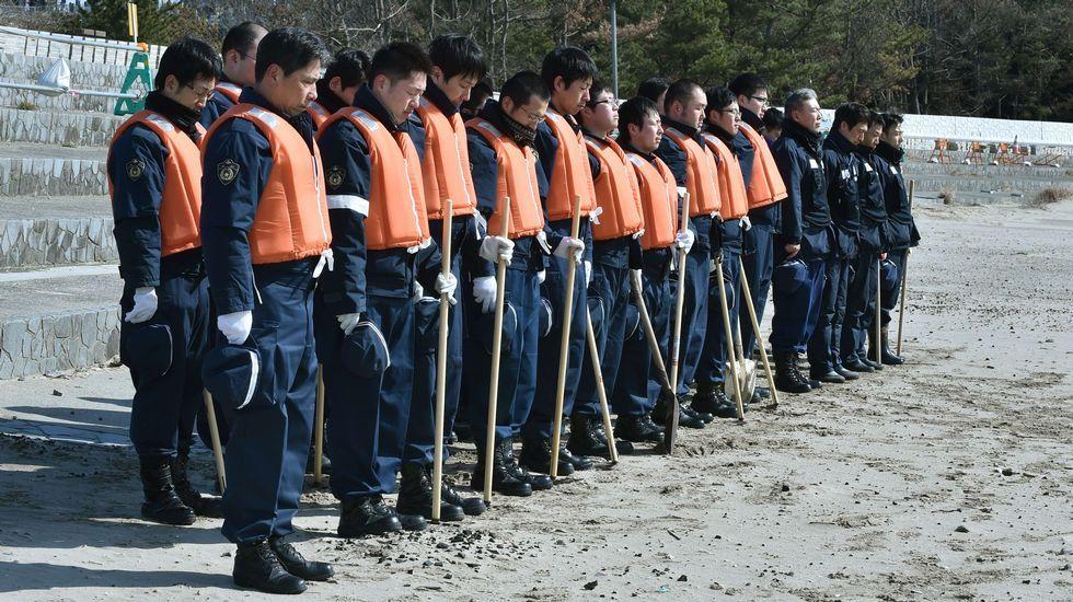 Homenaje a las víctimas del tsunami en Japón, el 11 de marzo del 2011