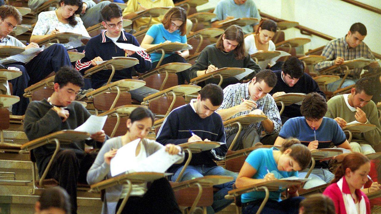 Pruebas de selectividad en el Campus de Lugo el pasado mes de julio