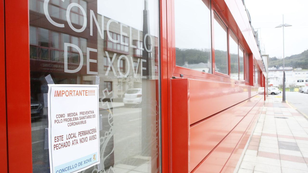 El concello de Xove, cerrado durante la pandemia