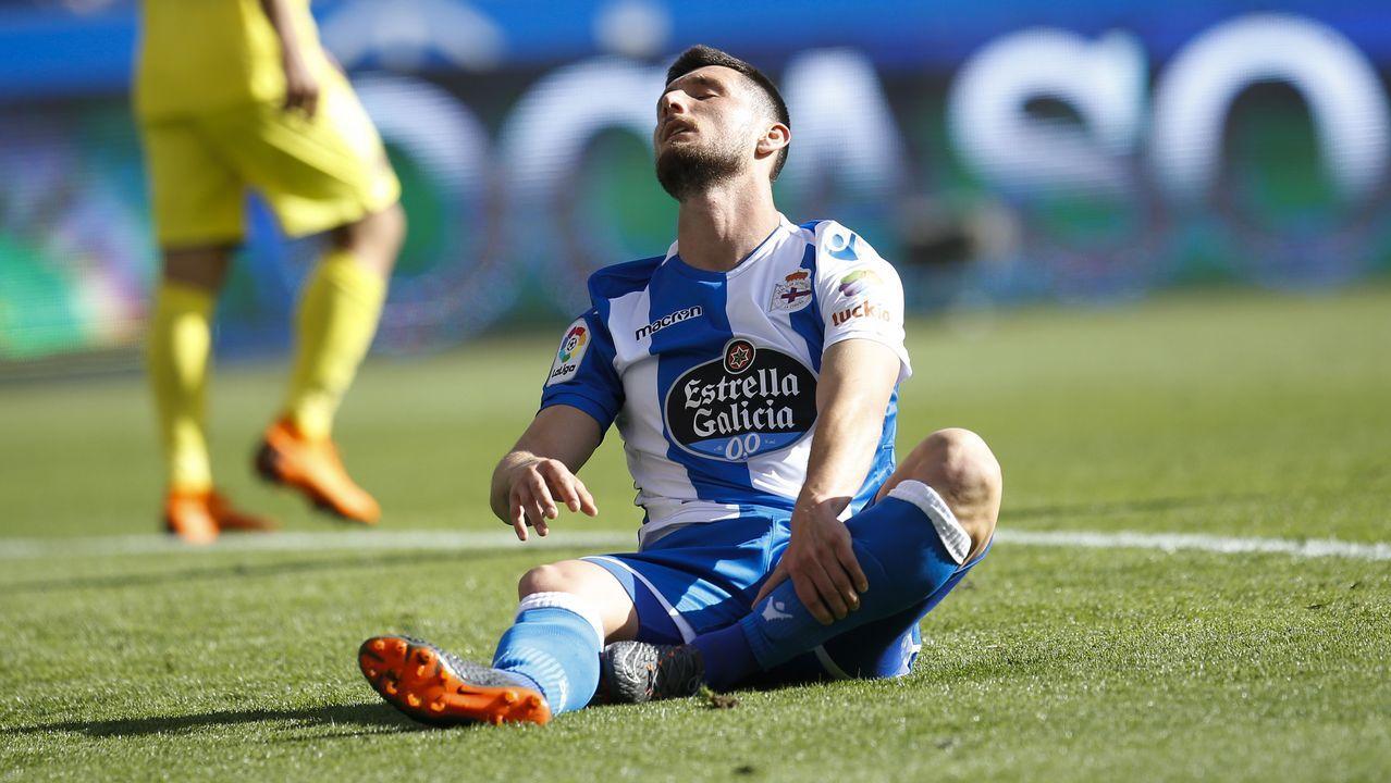 El Valencia - Dépor en imágenes.Imagen de los primeros clasificados de la San Silvestre de Gijón 2018