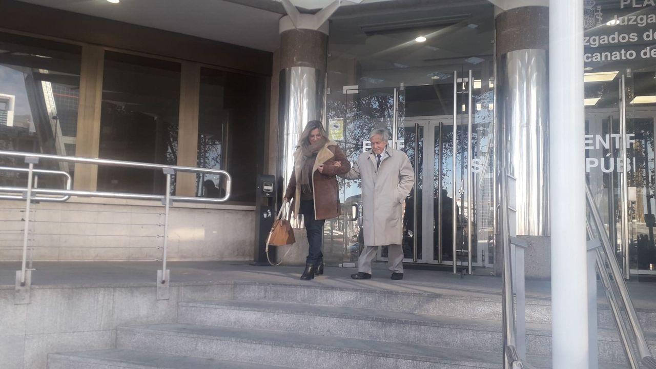 Vicente Moreda, a su salida de los Juzgados tras asistir al juicio contra su nieta por okupar su casa en Madrid