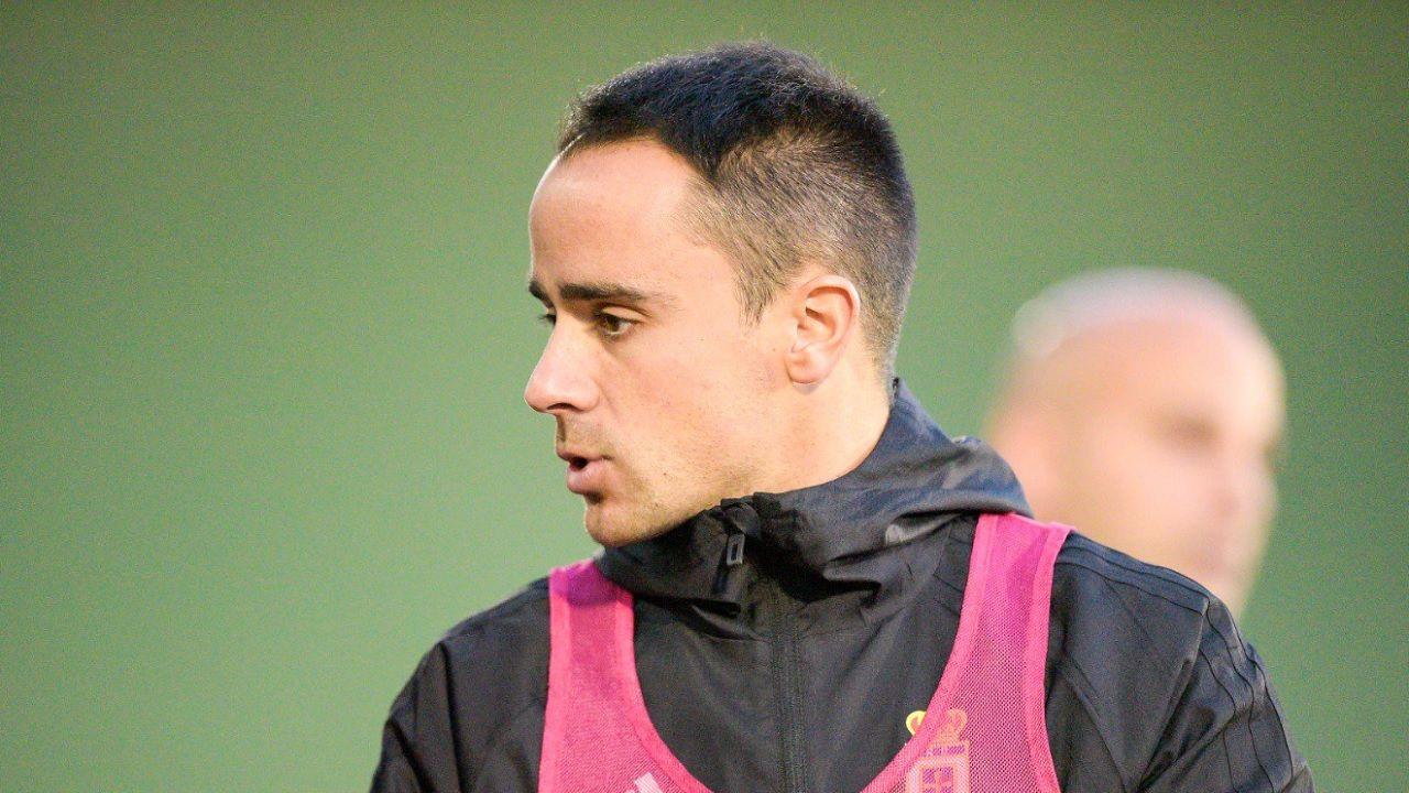 Alberto Martinez preparador fisico Real Oviedo.Alberto Martínez, durante un entrenamiento del primer equipo