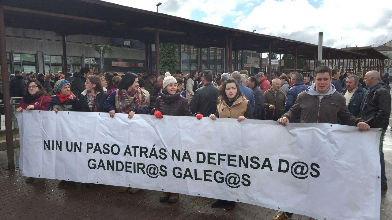 El debate sobre los precios en el campo se recrudece.Imagen de archivo de una movilización de ganaderos gallegos