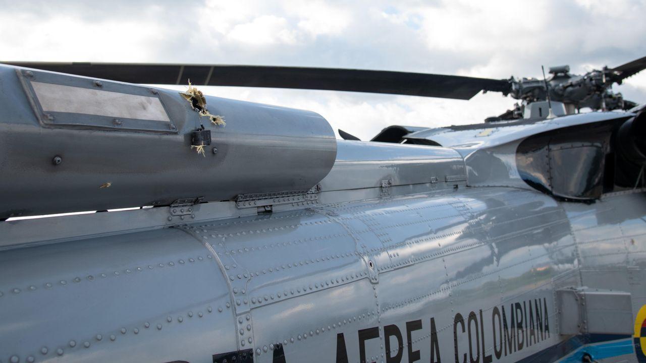 Daños en el helicóptero en el que viajaba el presidente de Colombia, Iván duque