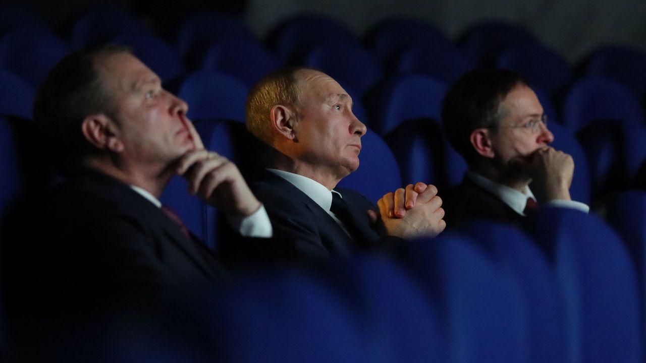 Putin, durante la visita al Museo de la Victoria a finales de enero