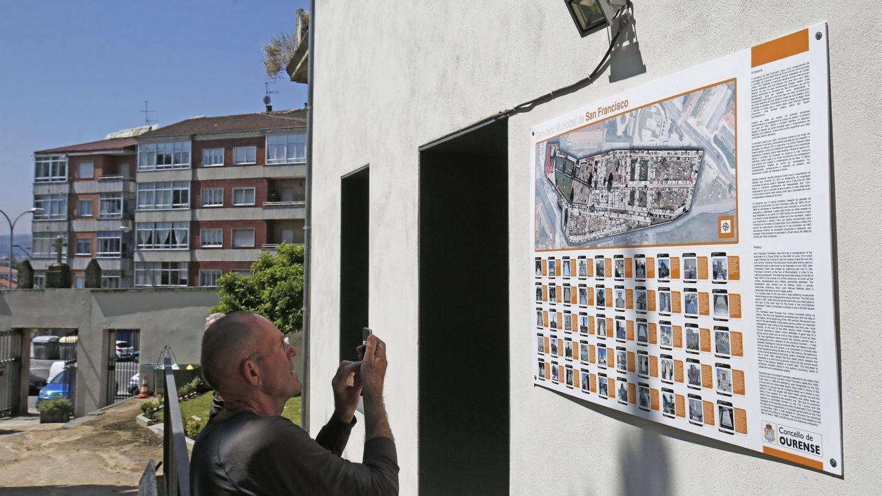 Cementerios singulares de Ourense.El de San Francisco es el referente en la ciudad. Tiene sepulturas ilustres como la de Eduardo Blanco Amor y Otero Pedrayo.