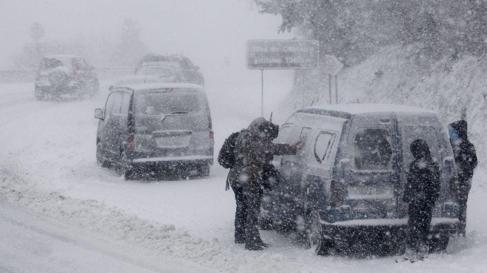 Temporal de nieve en O Cebreiro