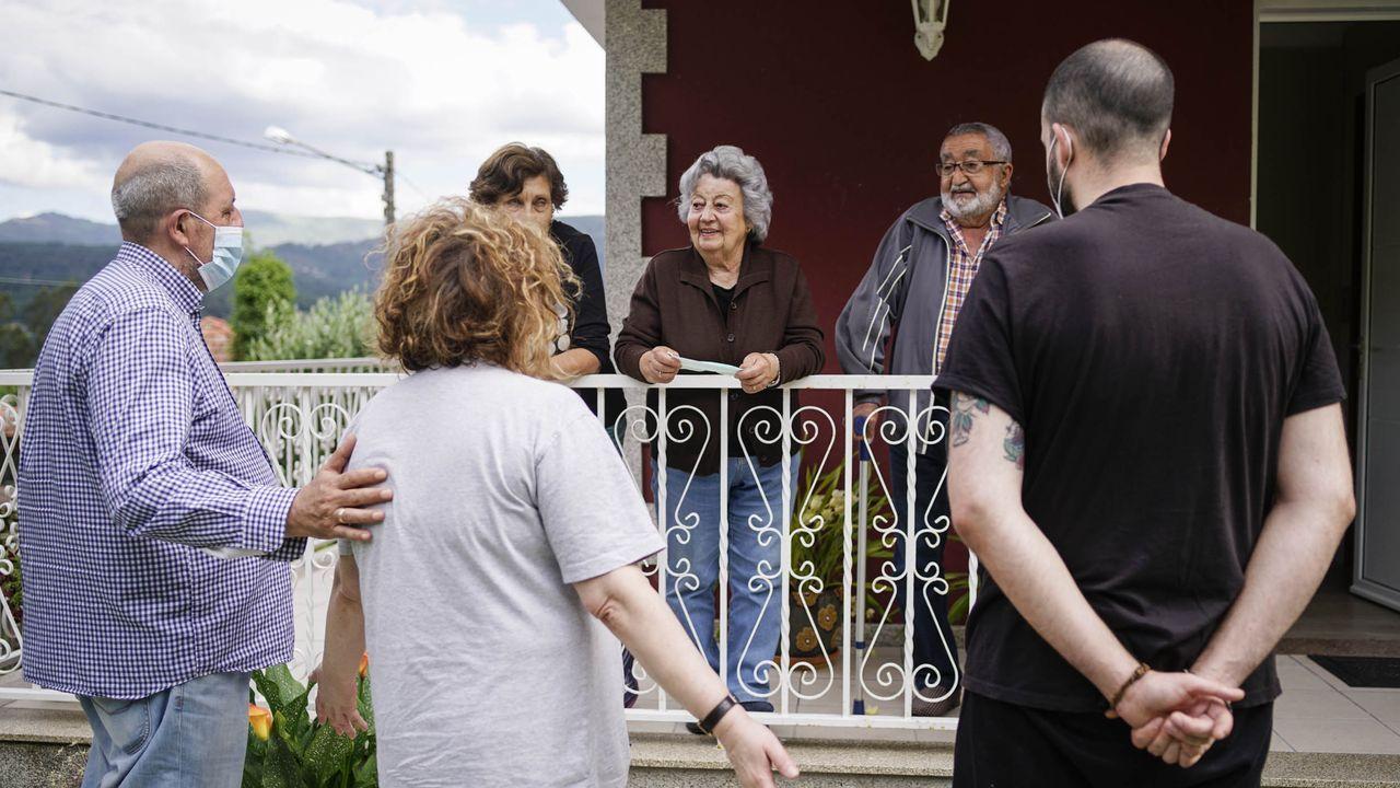 Pilar pudo por fin visitar a su madre, que vive a quince minutos pero en otra provincia