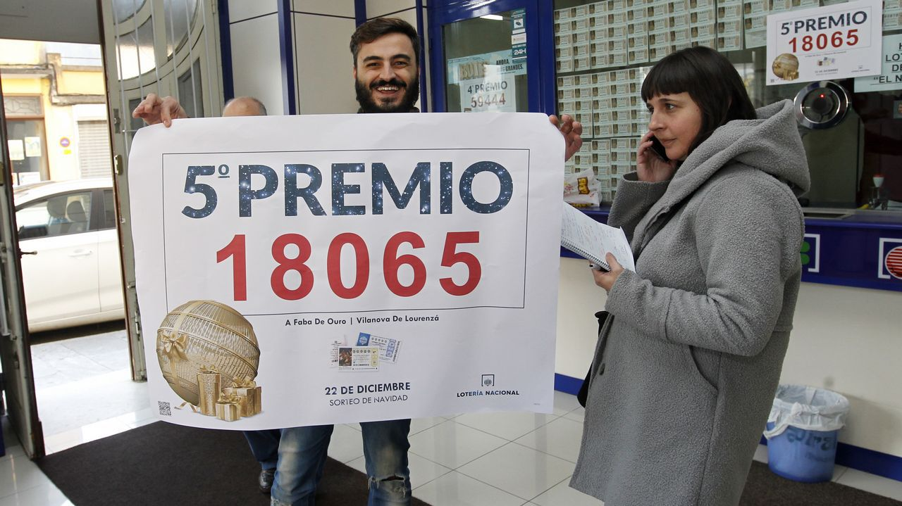 «A faba de ouro»reparte 800.000 euros en Lourenzá.Estanco de la calle Severo Ochoa, que vendió por máquina un décimo del quinto premio 580