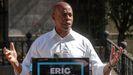 Eric Adams, ganador de las primarias a la Alcaldía de Nueva York en un conferencia en Brooklyn