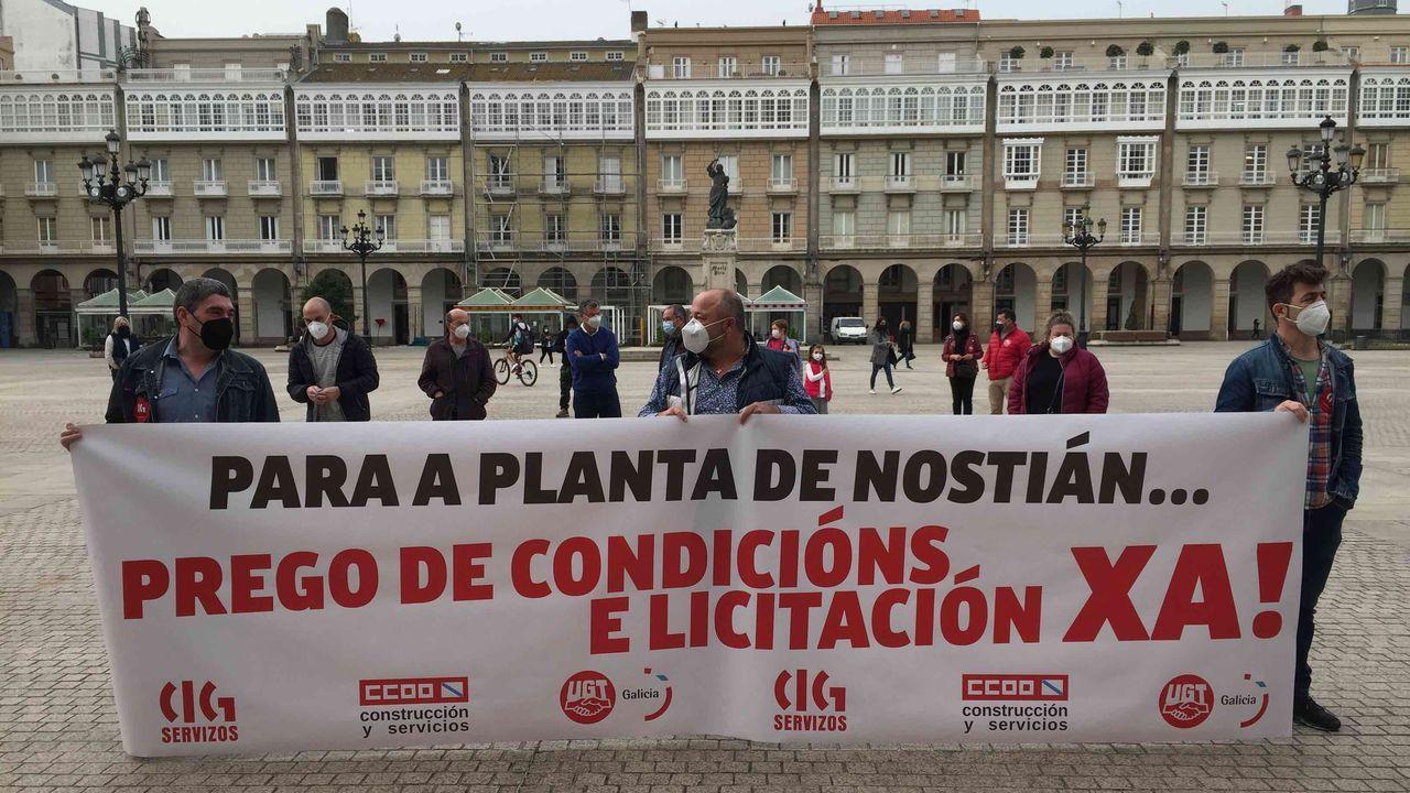 Protesta de los trabajadores de Nostián.Trabajadores del metal en Barreras