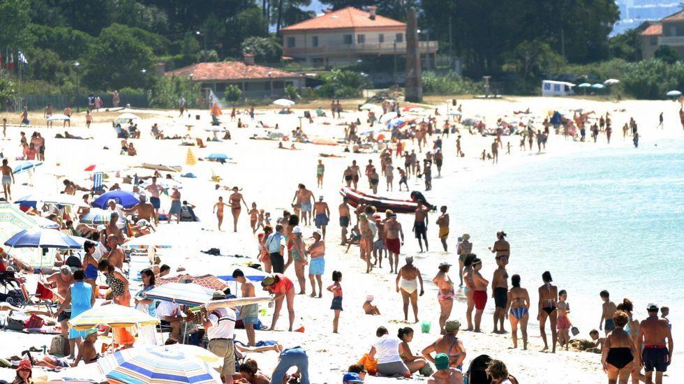 Playa de Fontaíña, en Vigo