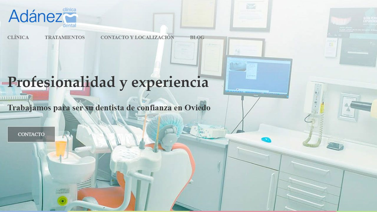 Portada del sitio web www.adanezclinicadental.es