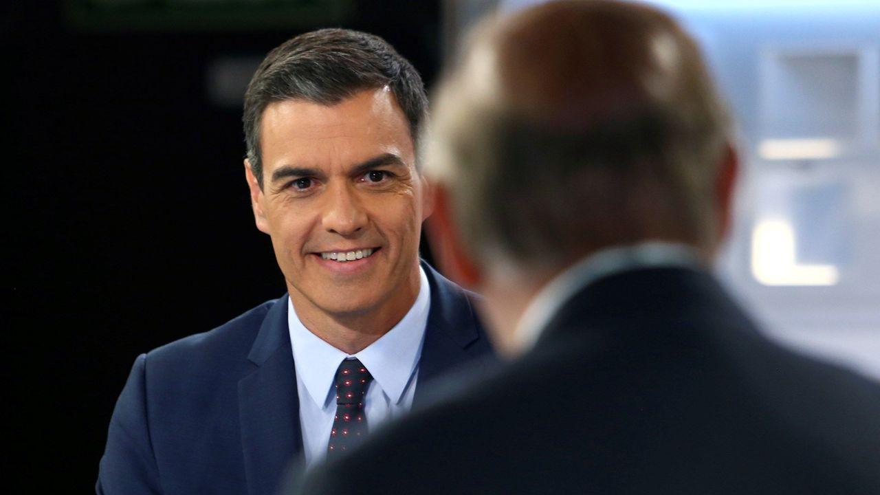 Sánchez, durante la entrevista realizada en Telecinco