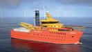 El buque de apoyo a la instalación de parques eólicos marinos cuenta con helipuerto y puede alojar a 120 personas, 93 técnicos y 27 tripulantes
