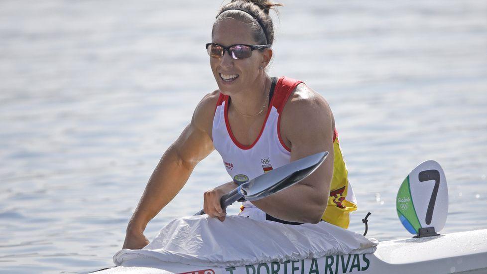 María López en la ceremonia de inauguración de Río 2016.María López en la ceremonia de inauguración de Río 2016