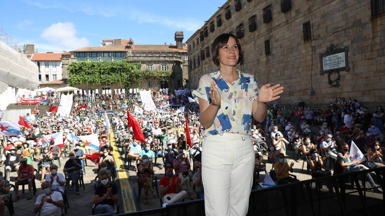 O BNG celebra o Día de Galicia nas sete cidades.Gonzalo Caballero, no acto anual de homenaxe a Castelao do PSdeG en Rianxo