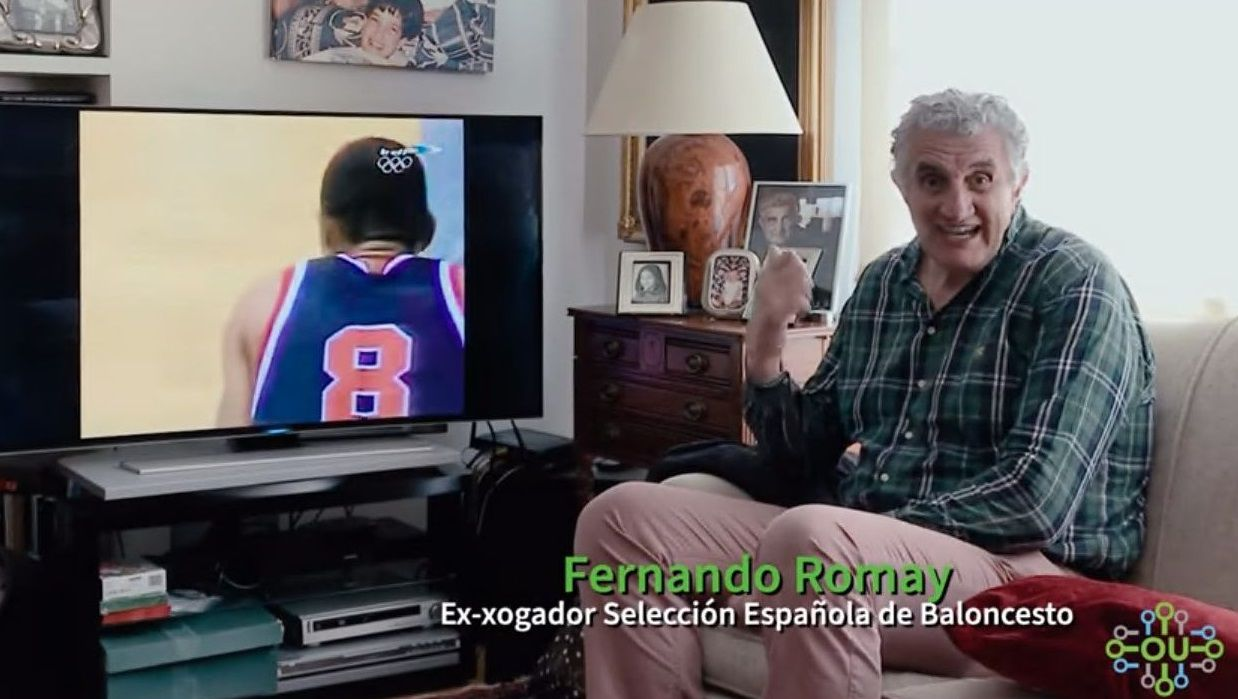 Rueda de prensa de despedida de Fran Vázquez.Fernando Romay, en el video difundido por la Concejalía de Medio Ambiente