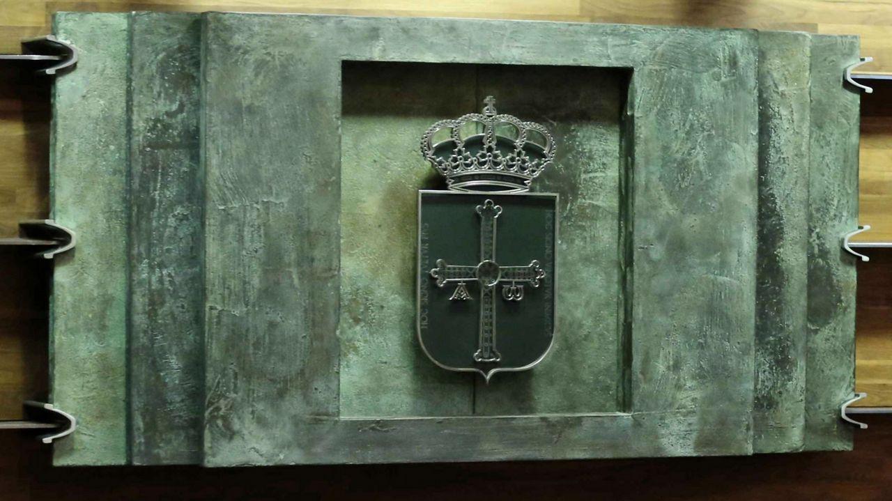La Ciudad de la Justicia de Vigo, cada día más cerca.El escudo de Asturias en la Junta General