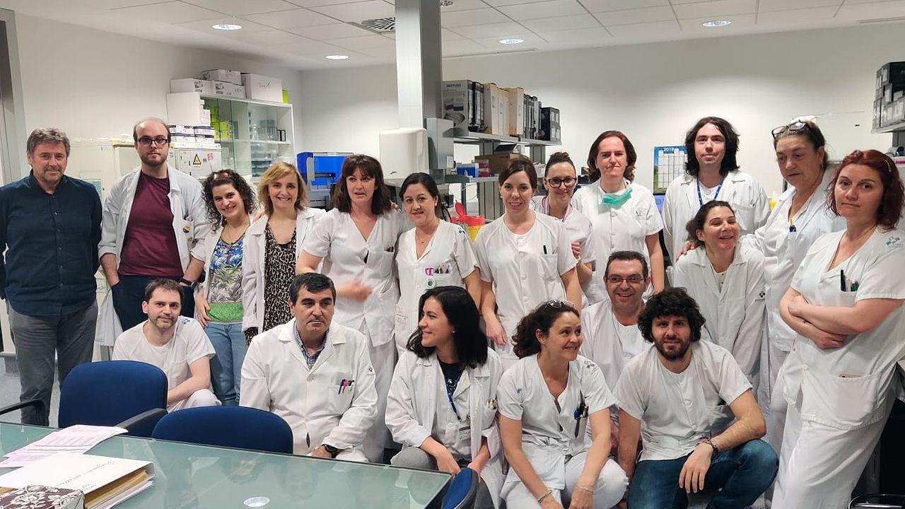 Parte del equipo del laboratorio de Virología del HUCA que realiza los análisis del coronavirus