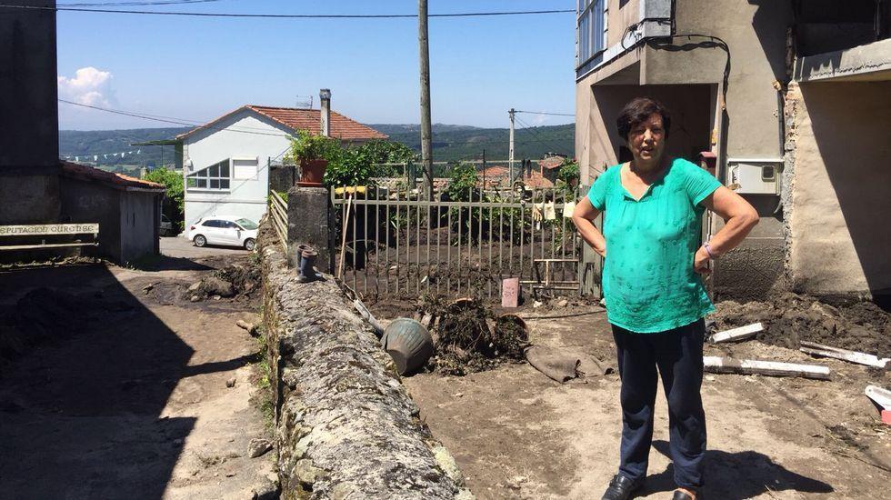 María Conde, vecina de O Bardo, afectada por la tormenta