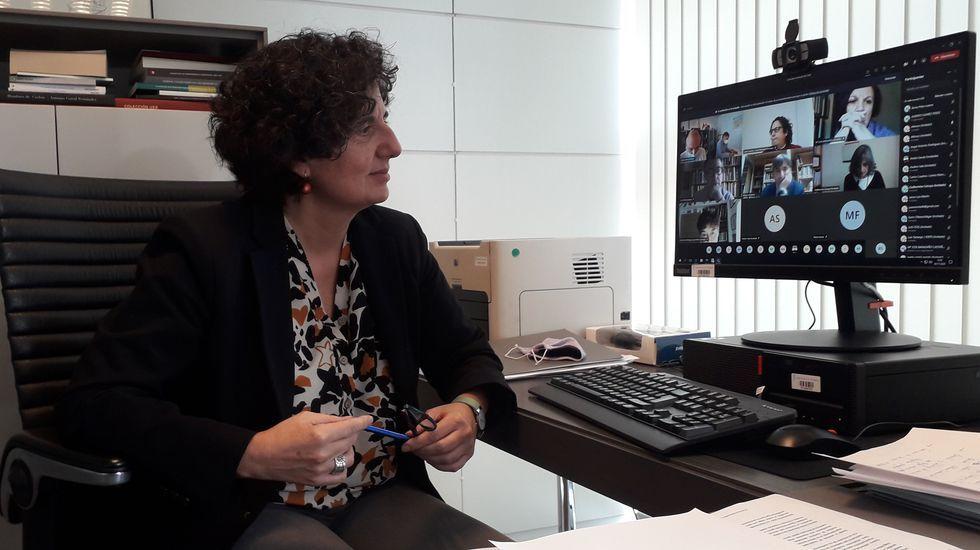 La consejera de Cultura, Política Llinguística y Turismo del Principado de Asturias, Berta Piñan