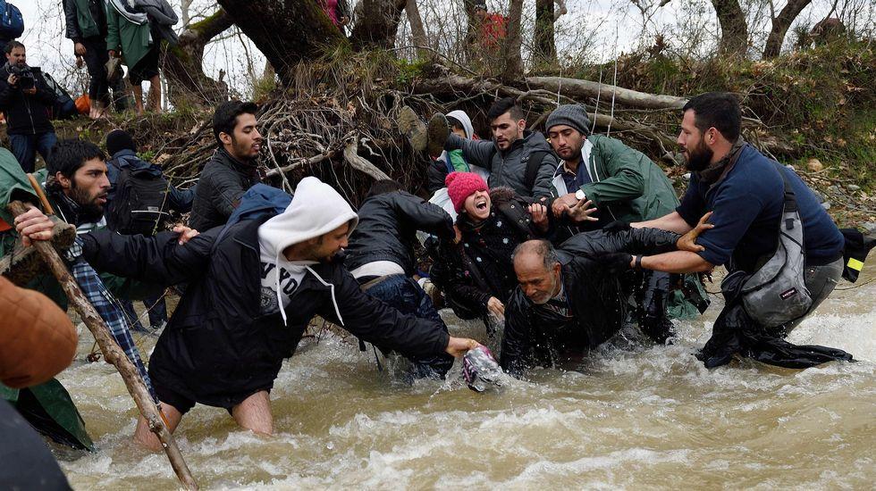 El drama de los refugiados en la frontera de Macedonia