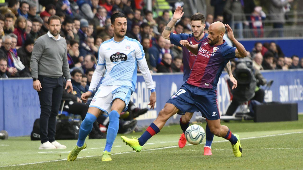 En directo: rueda de prensa de Richard Barral.Javi Rozada durante el Huesca-Real Oviedo