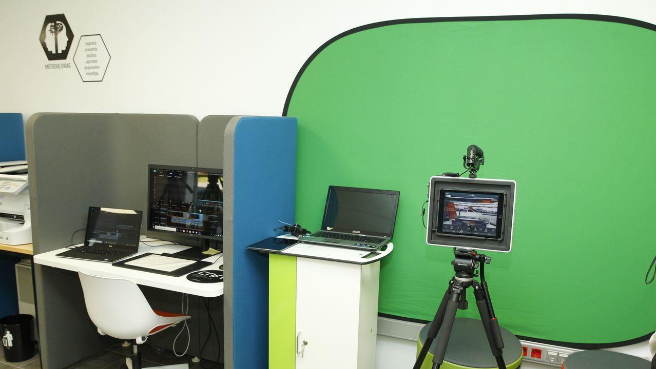 Los profesores podrán practicar la realidad virtual (chroma) y la oratoria con un atril. Se abre así a materias de letras