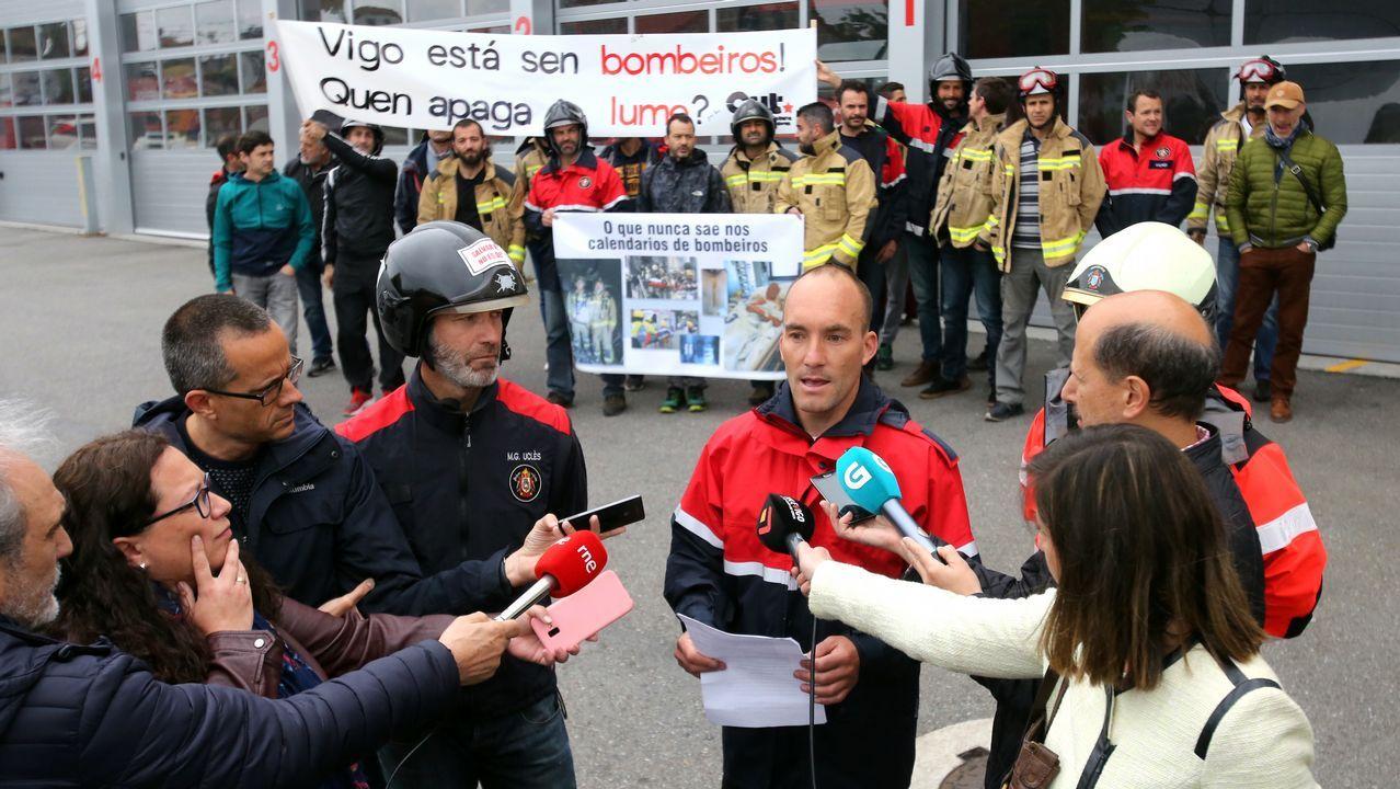Alberto Núñez Feijoo votando en Vigo