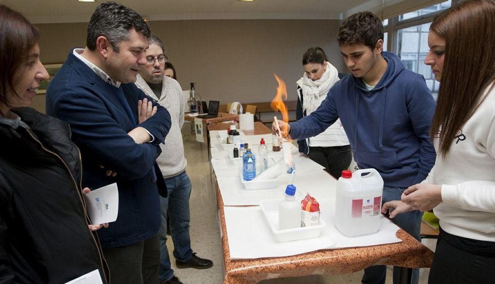 Rodeiro conoció en la práctica en el Politécnico tres proyectos premiados por su departamento.