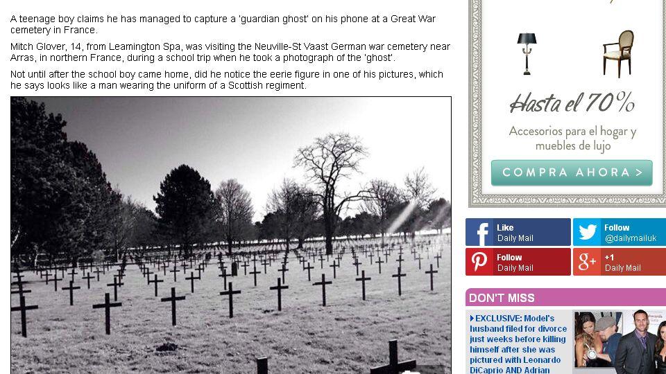 El supuesto fantasma en el «Daily Mail»