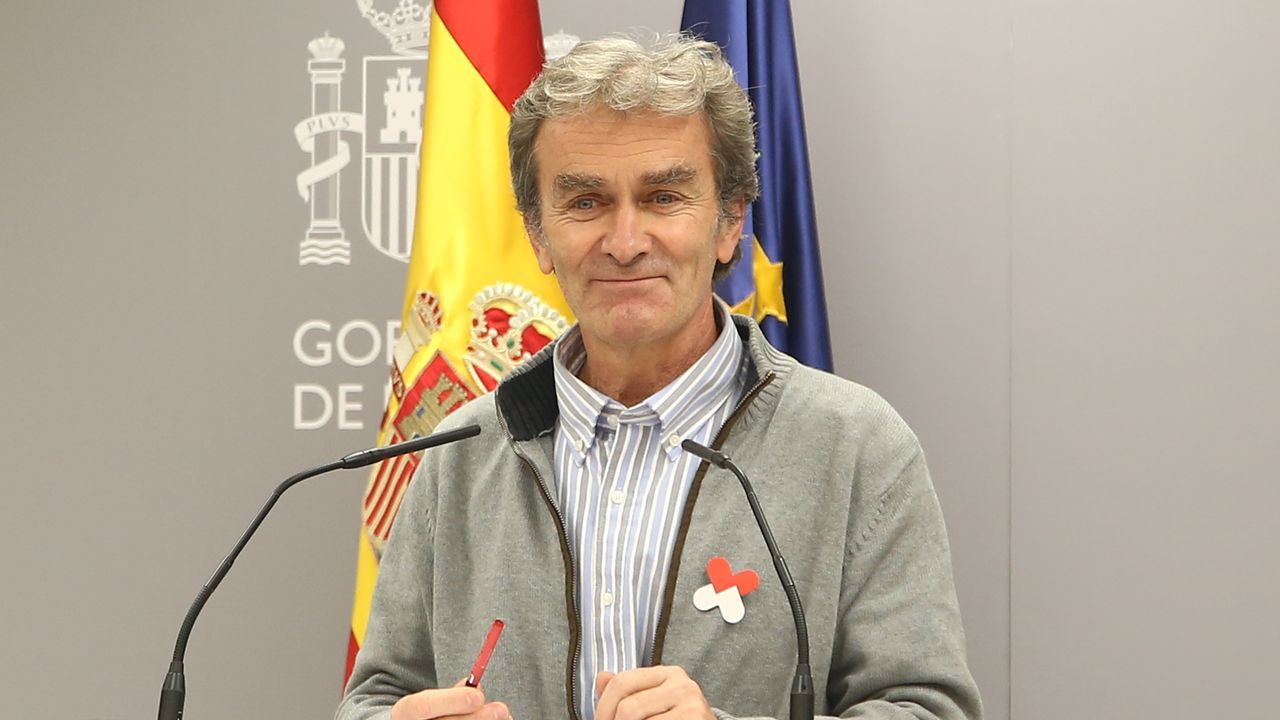 Comparecenciade Fernando Simóncon los últimos datos de la pandemia en España.Fernando Simón, en rueda de prensa