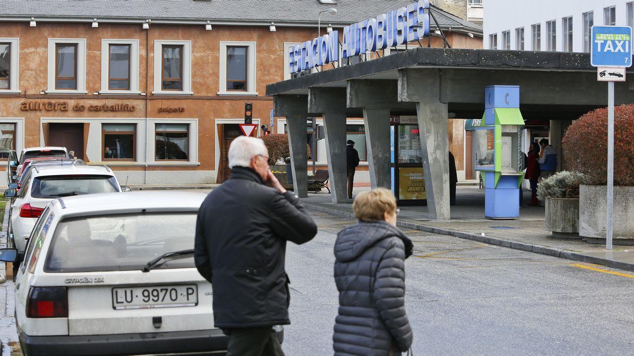 Parada de taxis de la estación de autobuses de Lugo