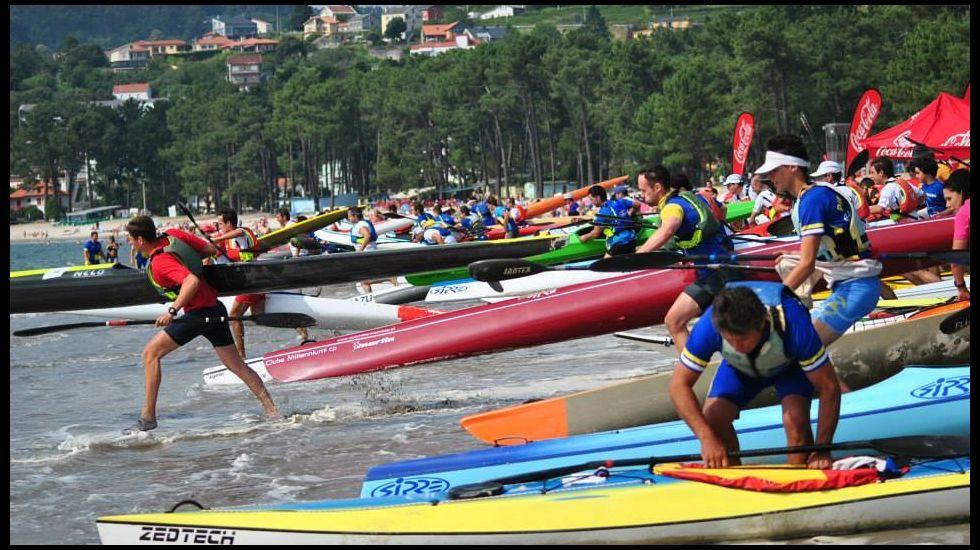 El campeonato se celebra junto a la playa de A Madalena