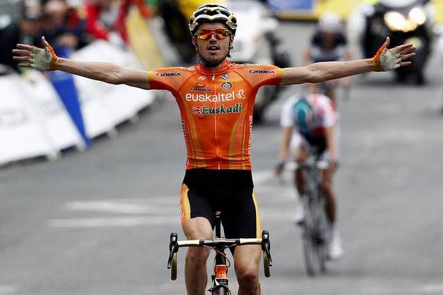 Samuel Sánchez, del Euskaltel, logró una victoria llena de épica en la etapa que fianalizó en Luz Ardiden.