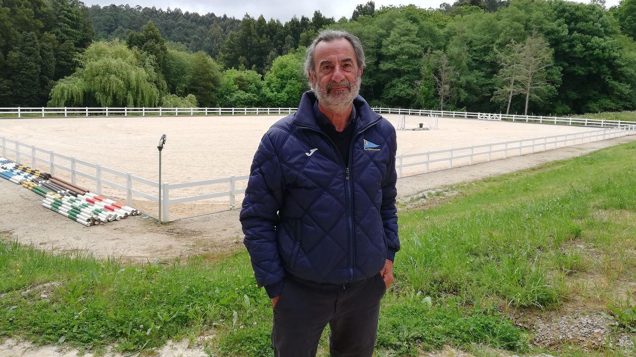 Santiago Togores en las instalaciones de Figeroa de la R. S. D. Hípica, en Abegondo.