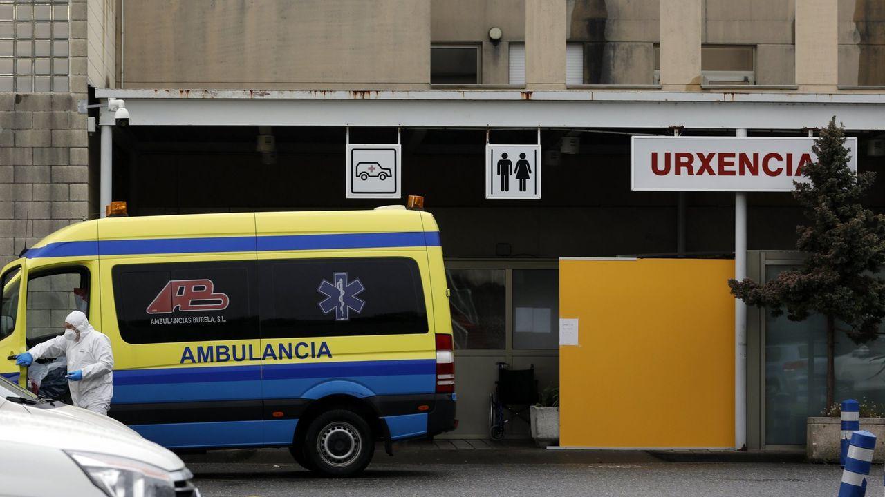 El Sergas informa de ocho ingresados por covid en planta en el hospital mariñano